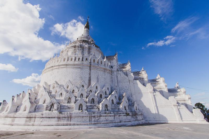 White pagoda of Hsinbyume royalty free stock photo