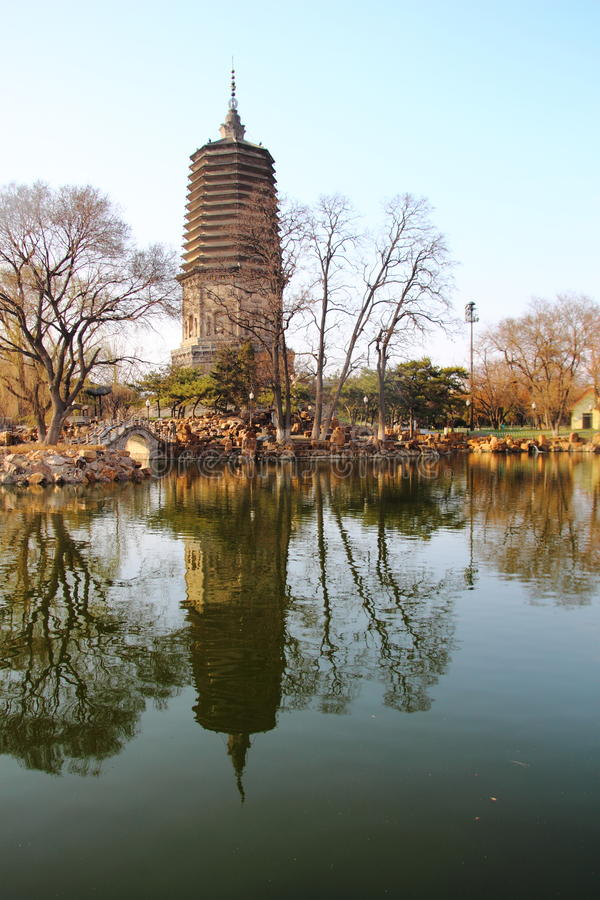 White Pagoda in Liaoyang of china. Liaoyang Baita is one of the 76 Guta, is a national heritage conservation units. White pagoda is located in the Liaoyang of royalty free stock photography