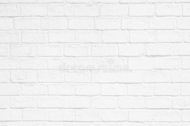 white paint brick wall for background texture design purpose stock images
