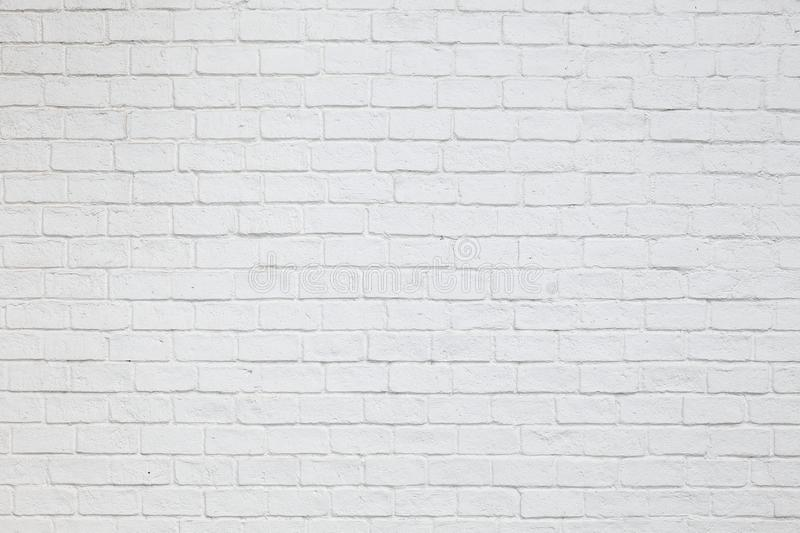 Simple white paint brick wall for background texture royalty free stock images