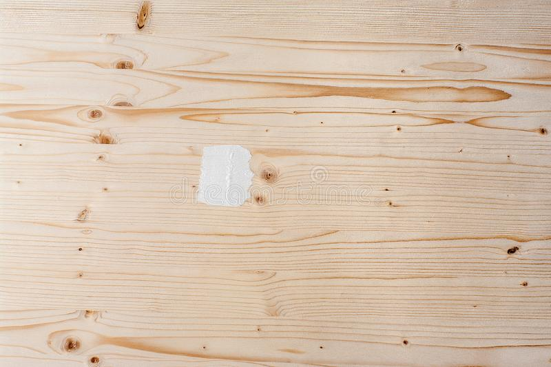 White paint smear stroke stain on shabby wooden plank. Wood texture.  stock photo