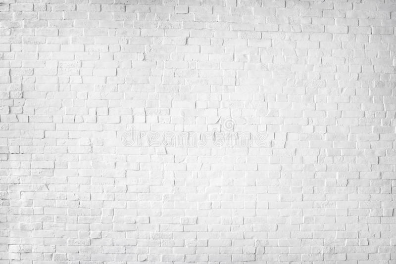 White Painted Beautiful Brick Wall.  stock photography