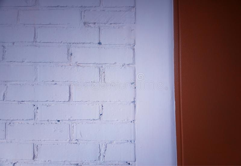 White painted bricked wall texture background. Hd stock photos