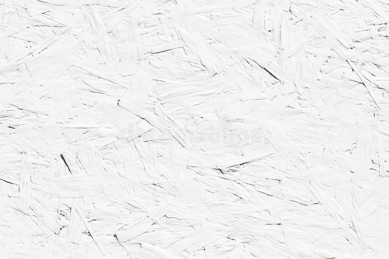 White Painted Chipboard Surface. With copy space stock image
