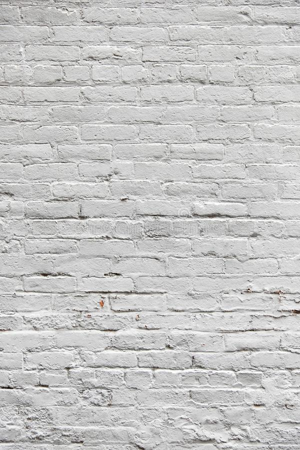 White painted empty brick wall stock image