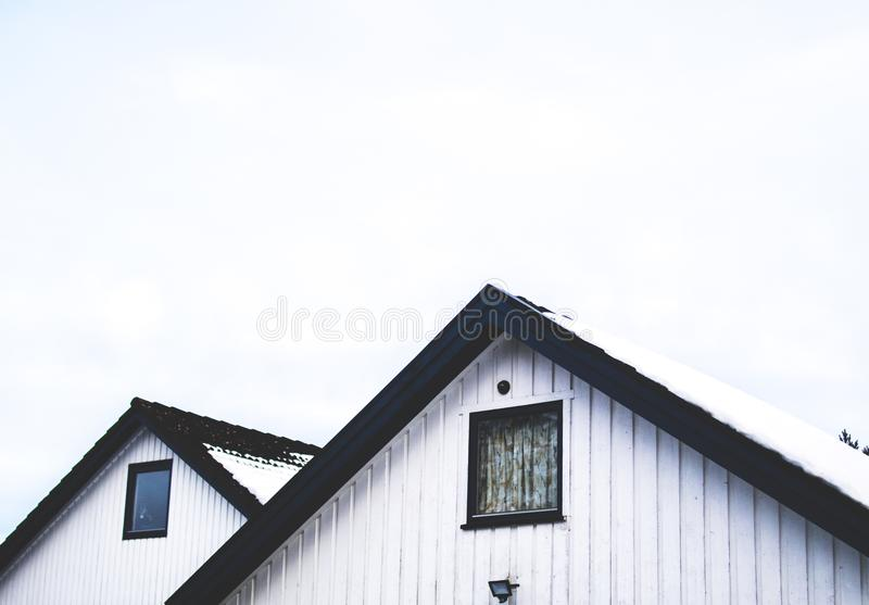 White Painted House royalty free stock photo