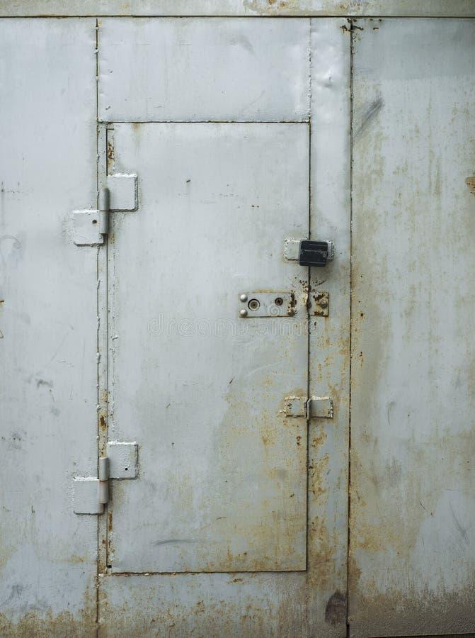 Download White painted metal door stock photo. Image of harsh - 34361272 & White painted metal door stock photo. Image of harsh - 34361272