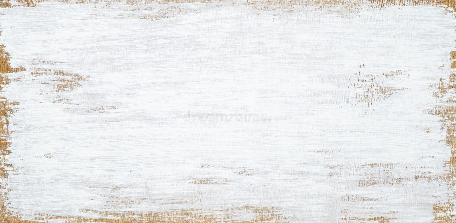 White painted wood texture seamless rusty grunge background, Scratched white paint on planks of wood wall royalty free stock image