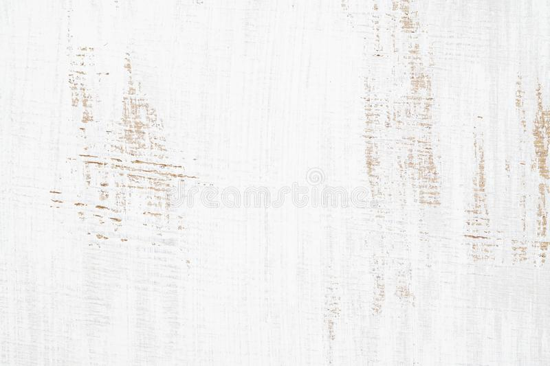 White painted wood texture seamless rusty grunge background, Scratched white paint on planks of wood wall stock photos