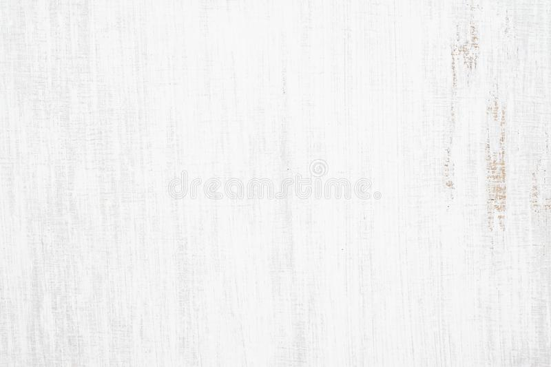 White painted wood texture seamless rusty grunge background, Scratched white paint on planks of wood wall stock image