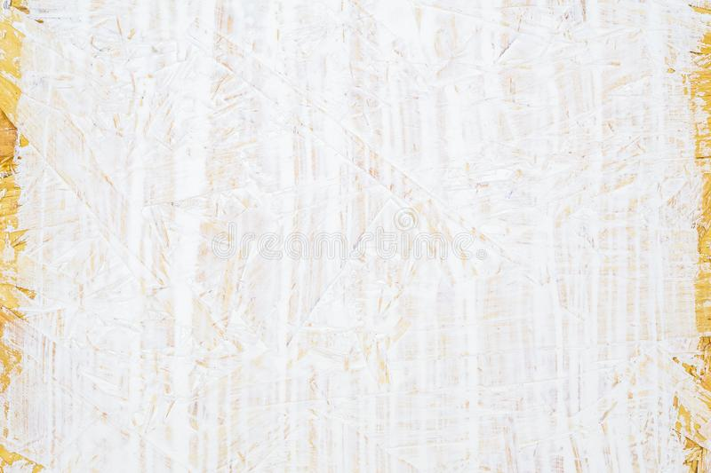 White painted wood texture seamless rusty grunge background, Scratched white paint on plywood chipboard surface made of recycled. Compressed wood and sawdust royalty free stock photo