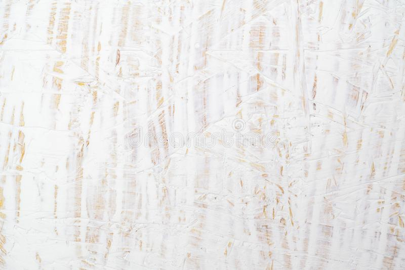 White painted wood texture seamless rusty grunge background, Scratched white paint on plywood chipboard surface made of recycled. Compressed wood and sawdust stock images