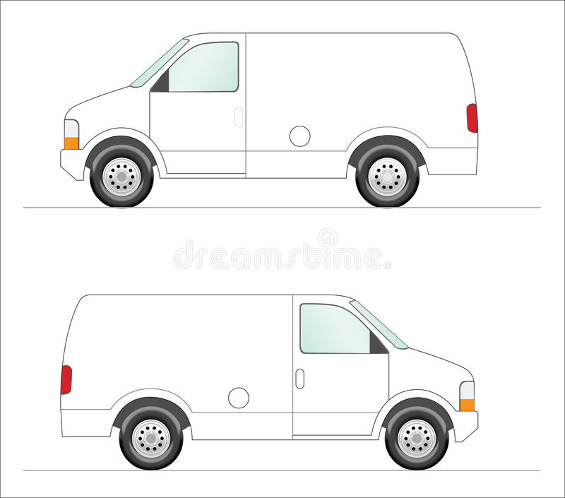 White panel van. This is a clipart of a white panel van illustration. Colors can be changed for additional format