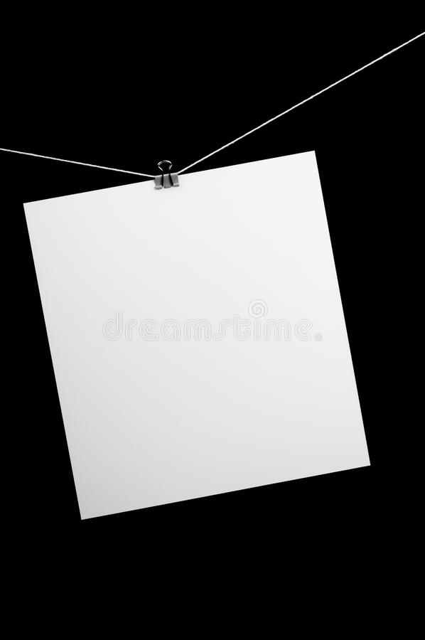 Download White paper stock image. Image of clamp, virgin, white - 22141369