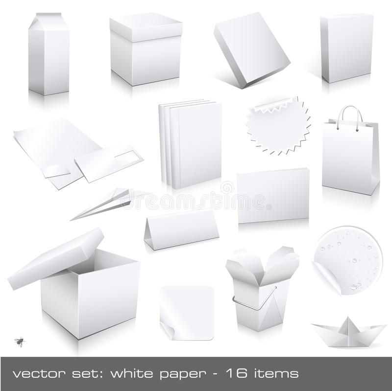 White paper vector illustration