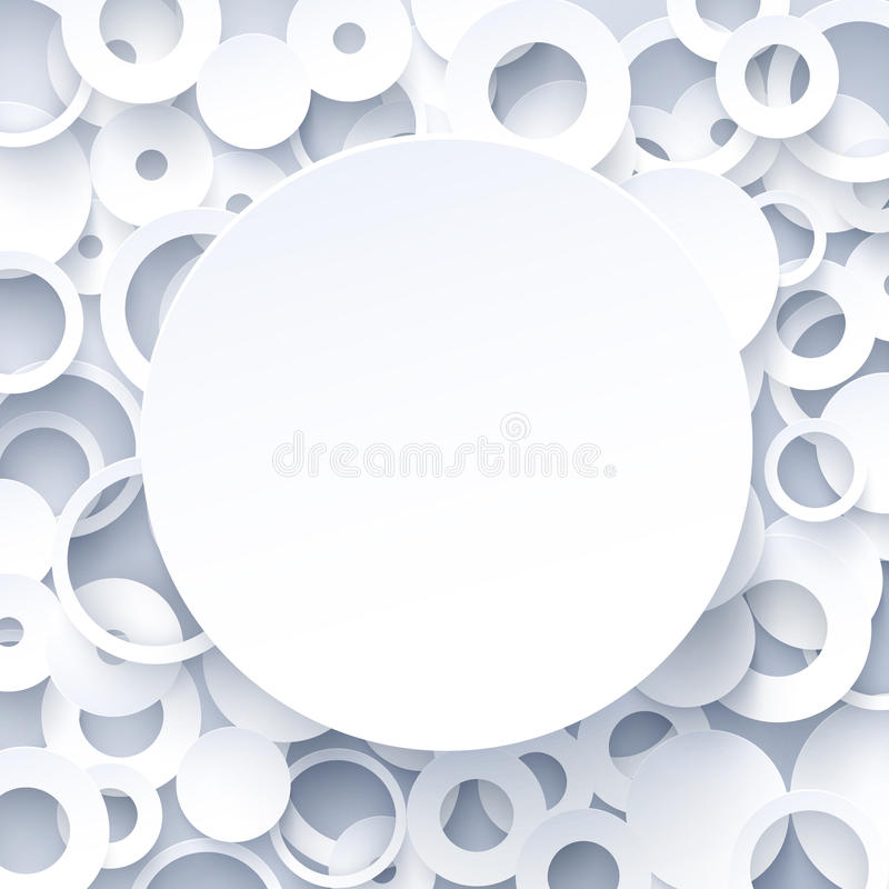 3d white paper geometric abstract background royalty free illustration