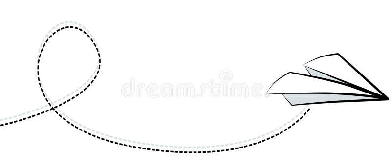 White paper airplane. stock illustration