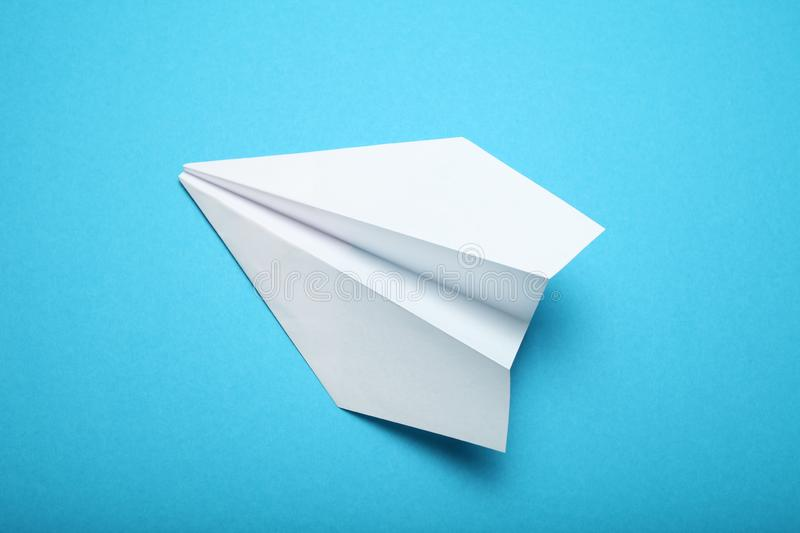 White paper airplane, aircraft concept.  royalty free stock image