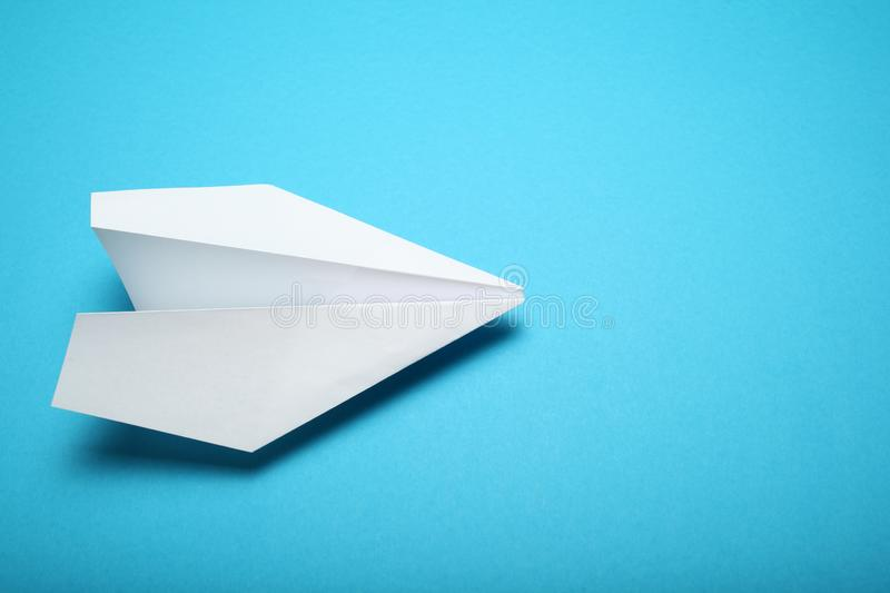 White paper airplane, aircraft concept.  royalty free stock photo