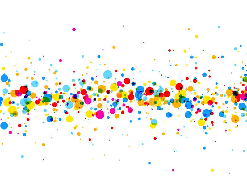 Background with color drops. White paper background with strip of color drops. Vector illustration vector illustration