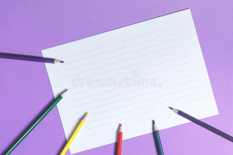 White paper on the background royalty free stock photos