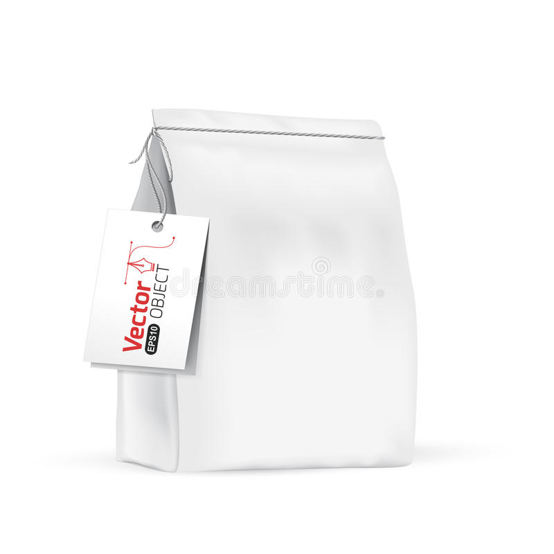 Free White Paper Bag For Bulk Products, Tea, Coffee, Spices. Royalty Free Stock Photography - 63835427