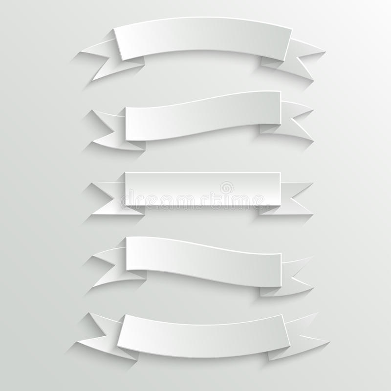 Download White Paper Banners And Ribbons Royalty Free Stock Photography - Image: 34440447