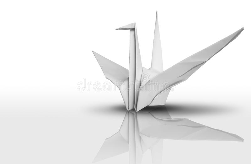 White paper bird royalty free stock photography