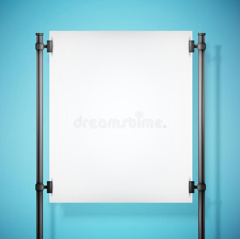 White paper board with empty space vector illustration