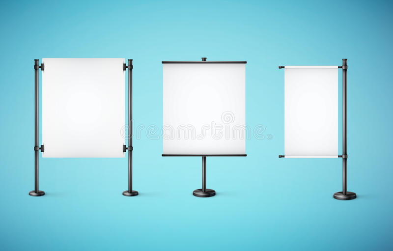 White paper board with empty space stock illustration