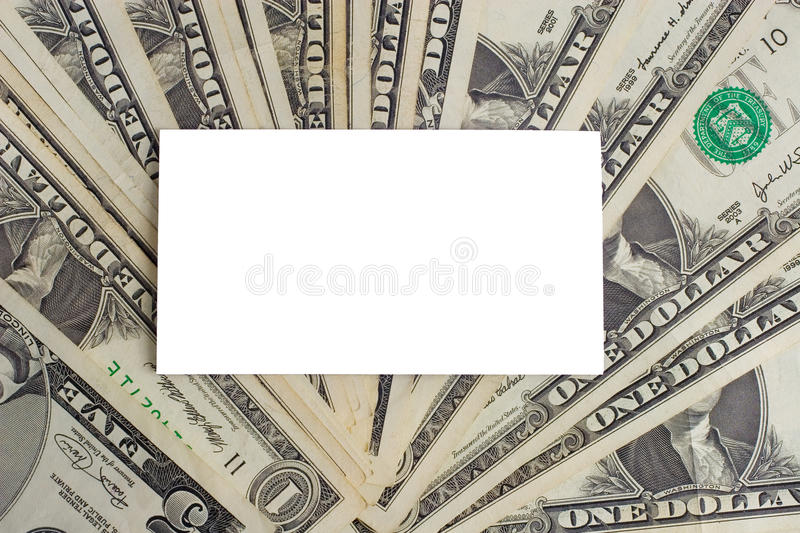 Download White Paper Card On US Dollars Stock Image - Image of blank, idea: 11418767