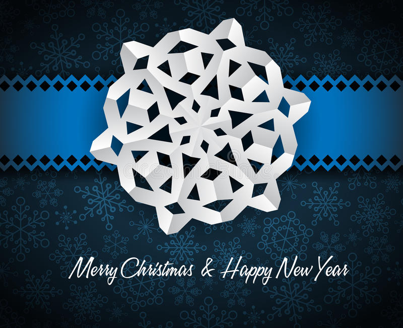 white paper christmas snowflake stock illustration
