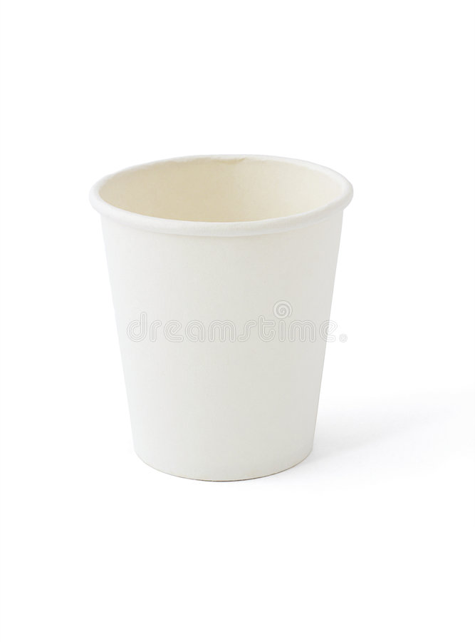 White paper cup stock photography
