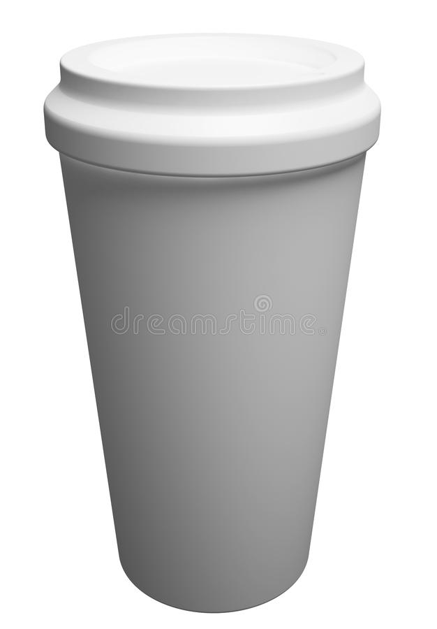 White Paper Cup close up royalty free illustration