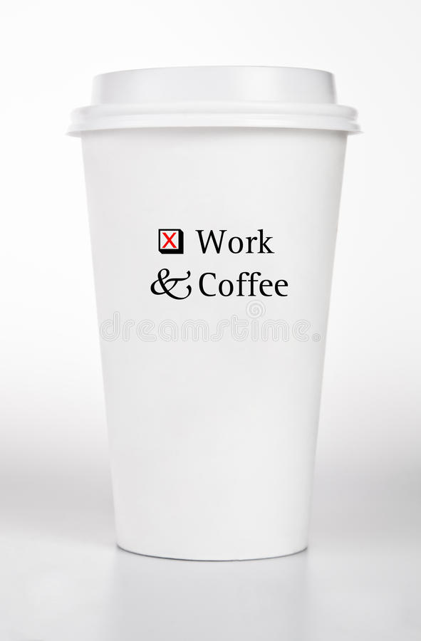 Download White Paper Cup With Text Concept Stock Photo - Image of container, coffee: 23594926