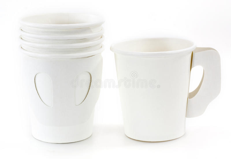 White Paper Cups Stock Photography