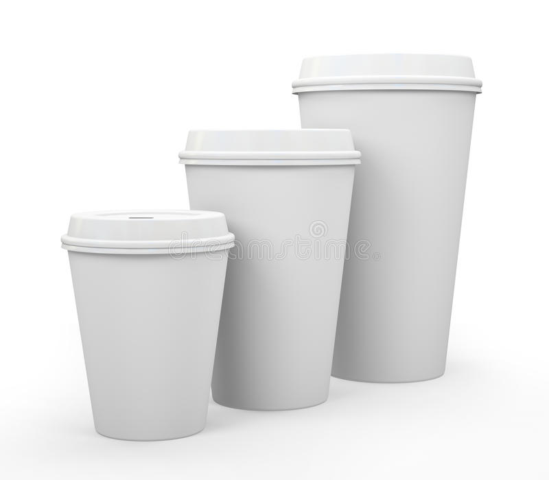 Download White Paper Cups Of Coffee Royalty Free Stock Images - Image: 27419749