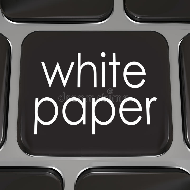White Paper Download Online Information Advice Case Study stock illustration