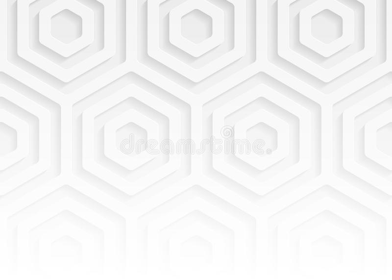 White paper geometric pattern, abstract background template for website, banner, business card, invitation. White paper pattern, abstract background template for royalty free illustration