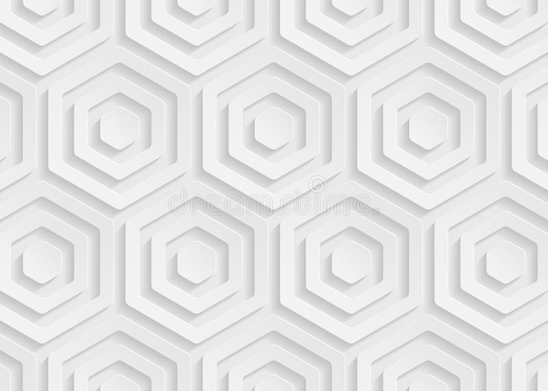 White paper geometric pattern, abstract background template for website, banner, business card, invitation. White paper pattern, abstract background template for stock illustration