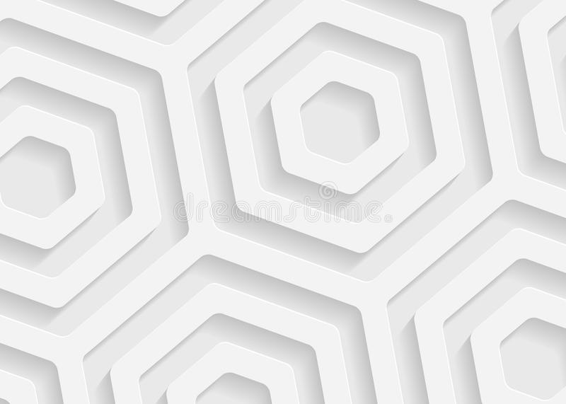 White paper geometric pattern, abstract background template for website, banner, business card, invitation stock illustration