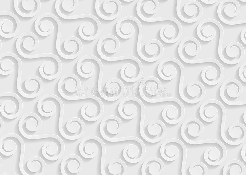 White Paper Geometric Pattern, Abstract Background Template For