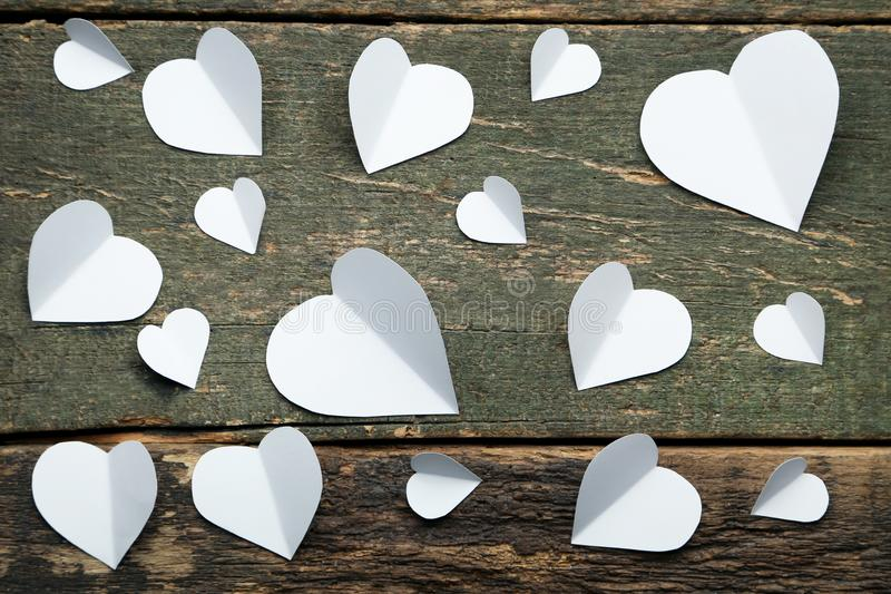 White paper hearts royalty free stock photos