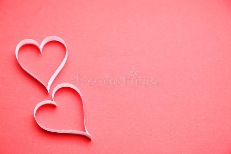 Paper hearts royalty free stock photo