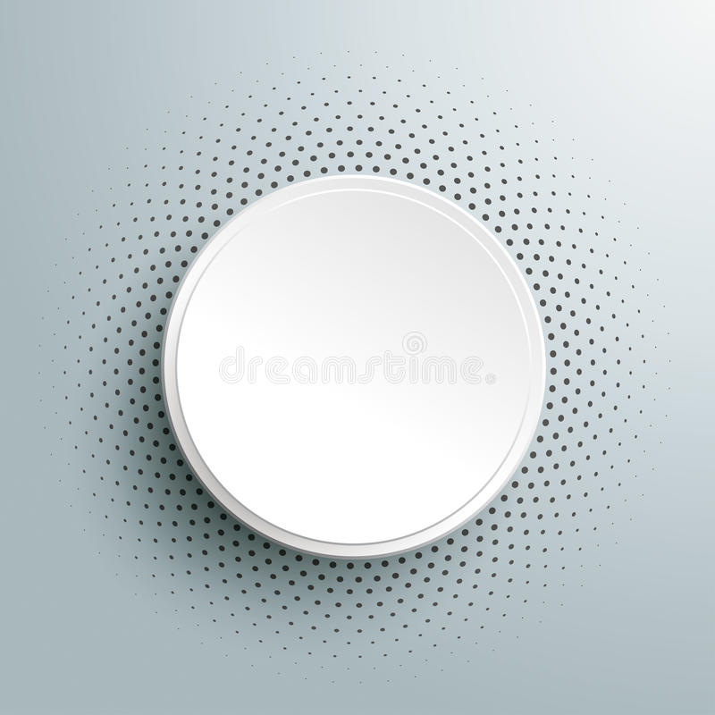 White Paper Infographic Halftone. Infographic design on the grey background stock illustration