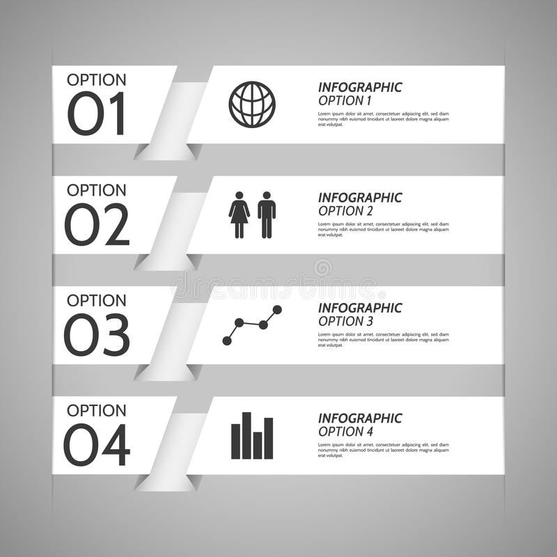 White Paper Infographic Option Background royalty free illustration