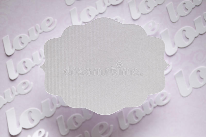 White paper label on abstract background stock image