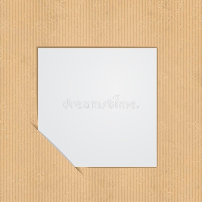 White paper label. Vector illustration vector illustration