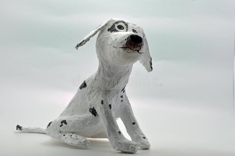 Download White paper mache dog stock image. Image of crafter, cast - 37122041