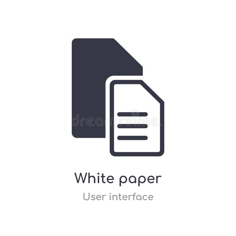 white paper outline icon. isolated line vector illustration from user interface collection. editable thin stroke white paper icon vector illustration